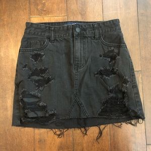 Hollister Black Denim Skirt